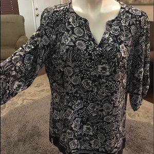 Croft and barrow large rayon blouse